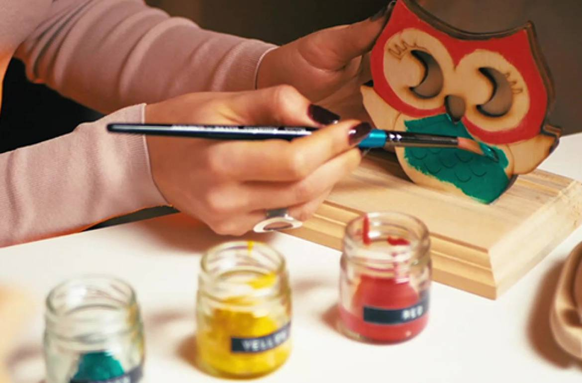 Paint and Wood: A Mindful Way